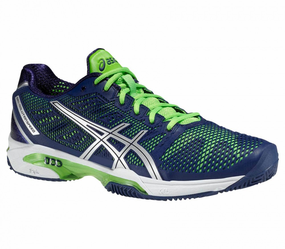 asics gel solution speed 2 clay tennis shoes blue