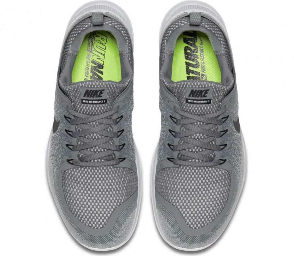 nike free rn distance 2 men 39 s running shoes grey white. Black Bedroom Furniture Sets. Home Design Ideas