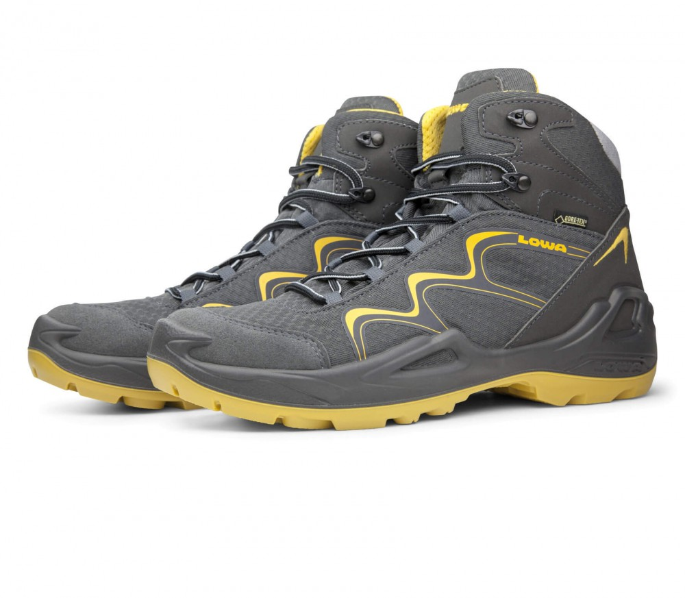 Lowa - Innox GTX Mid children's hiking shoes (dark grey/yellow)