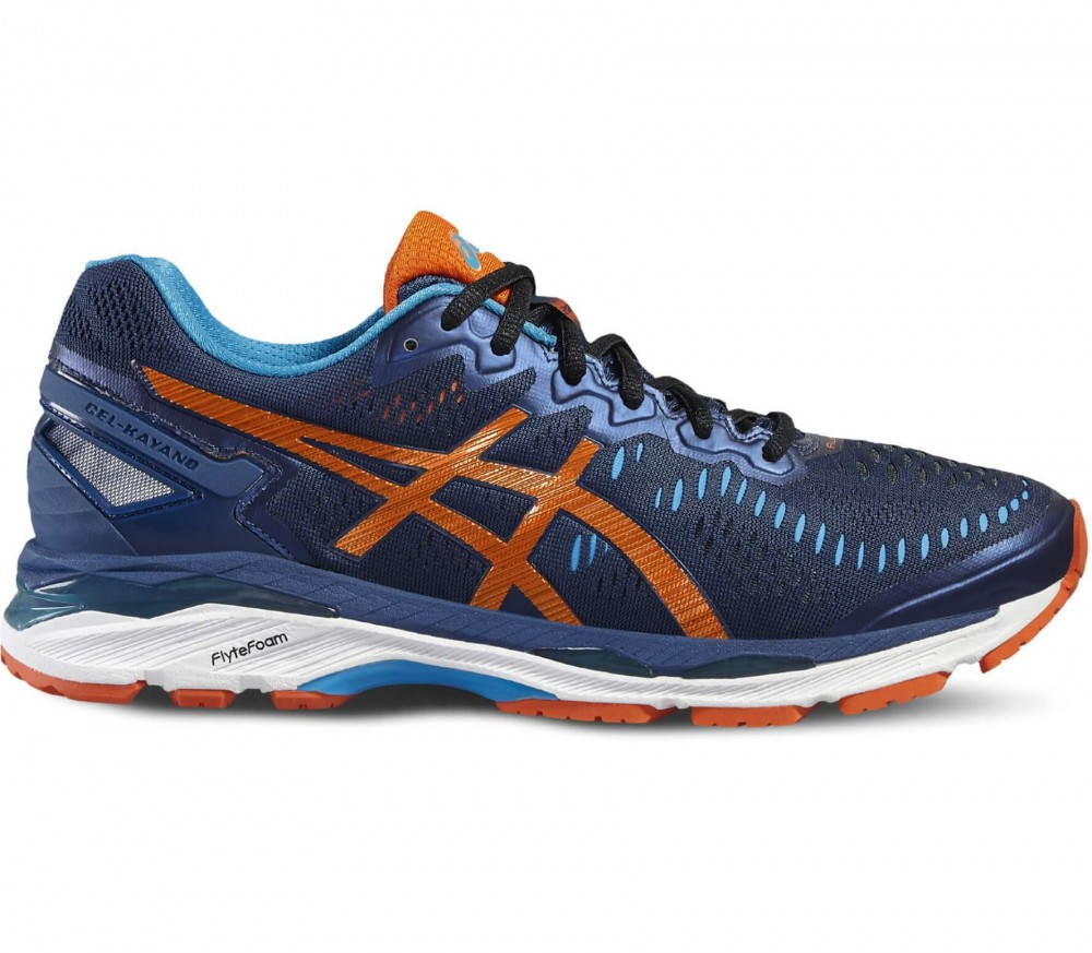 ASICS - Gel-Kayano 23 men's running shoes (dark blue/orange)