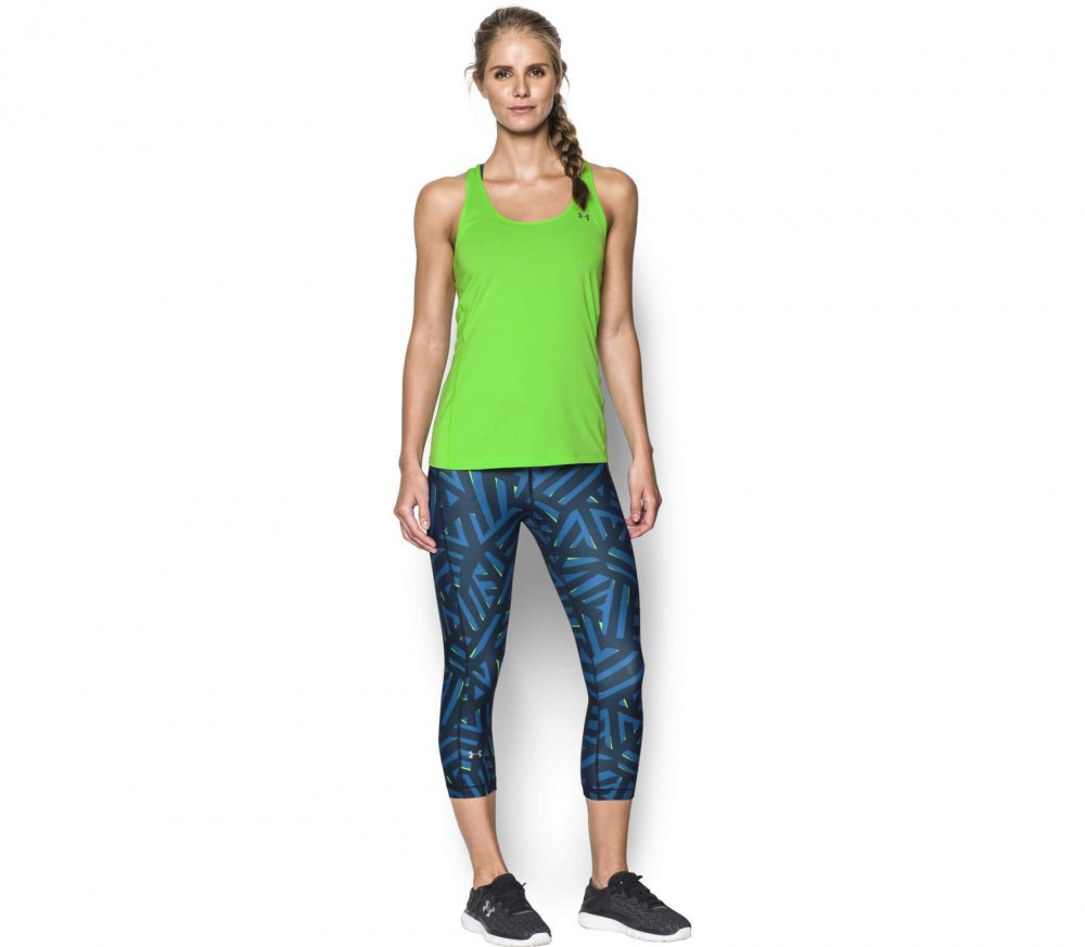 Under Armour - Heatgear Armour Printed capri pants women's training pants (blue/black)