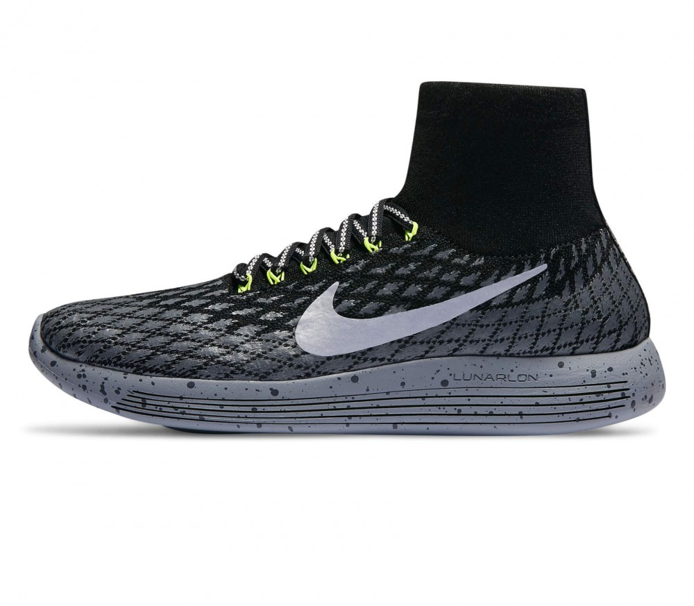 Nike - LunarEpic Flyknit Shield men's running shoes (black/silver)