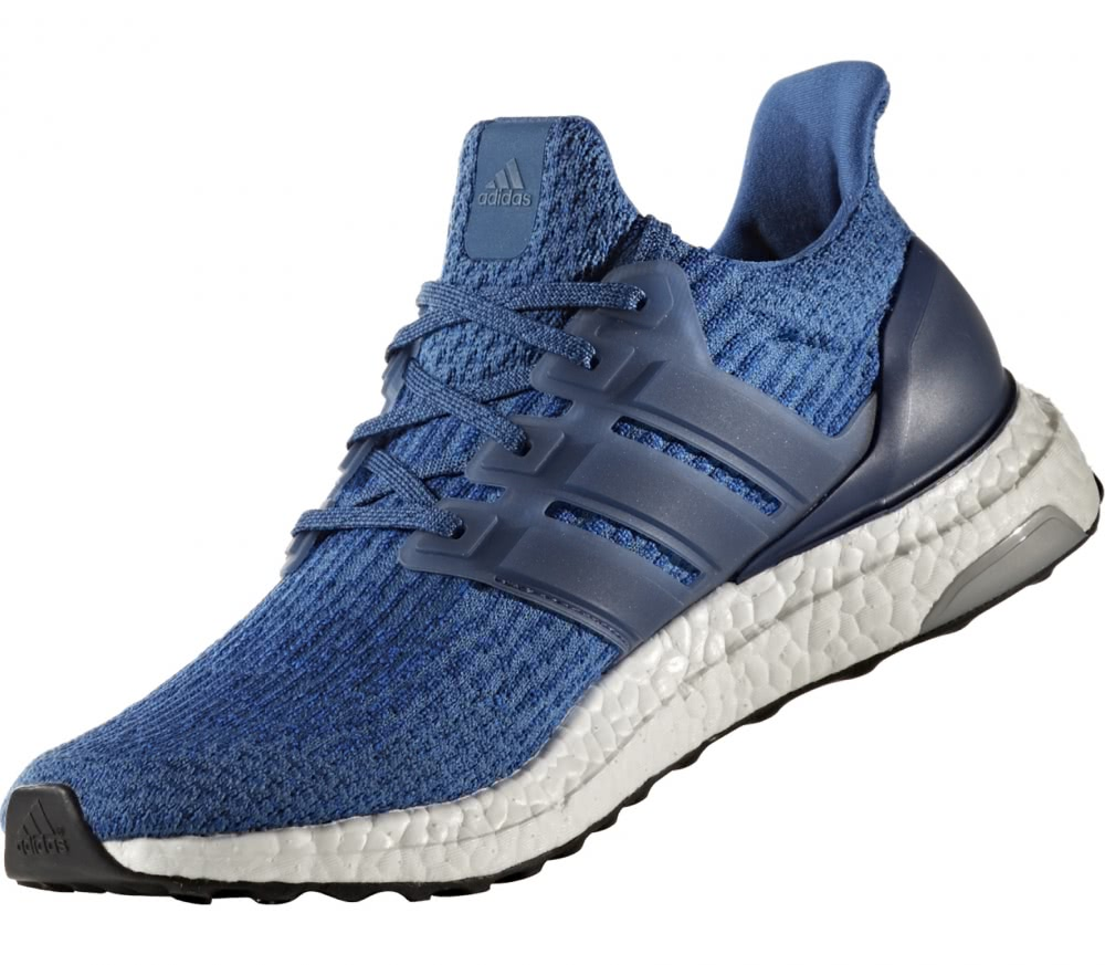 adidas ultra boost men 39 s running shoes blue white. Black Bedroom Furniture Sets. Home Design Ideas