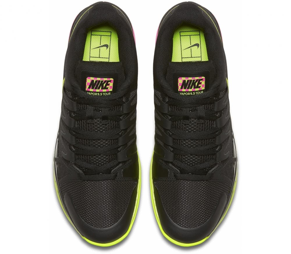 Nike - Zoom Vapor 9.5 Tour men's tennis shoes (black/light yellow)