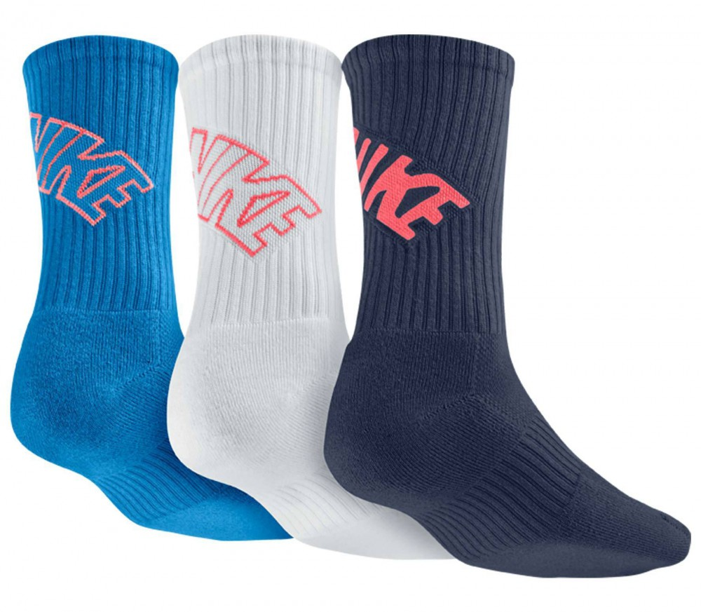 Nike - Dri-Fit Fly Crew men's tennis socks - 3 Paar (blue/