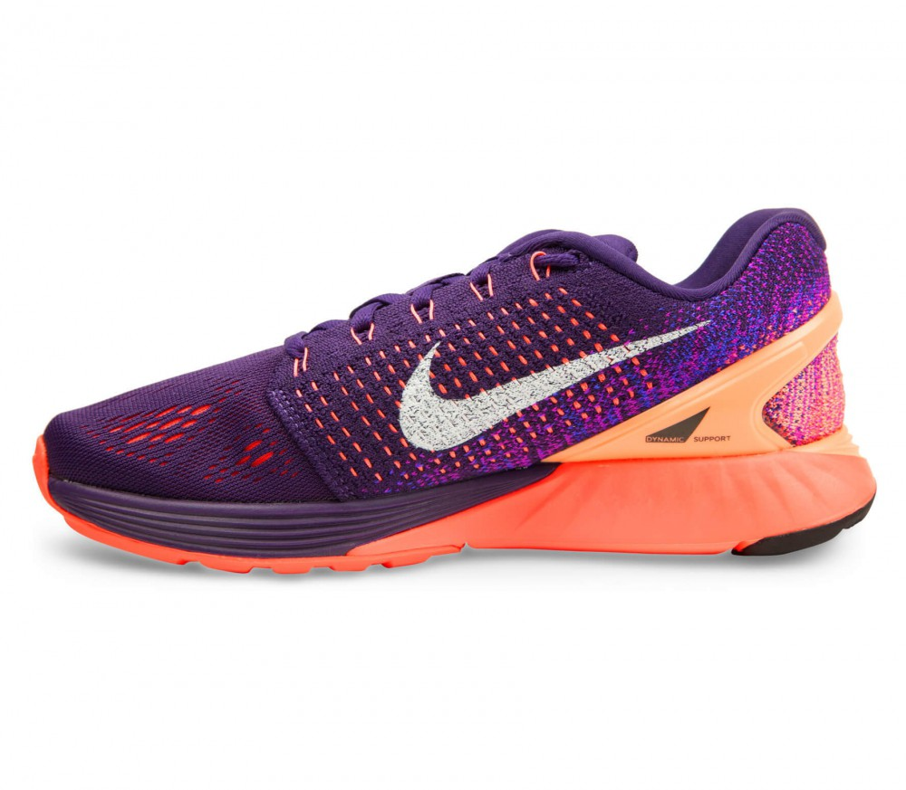 nike lunarglide 7 women 39 s running shoes purple orange. Black Bedroom Furniture Sets. Home Design Ideas