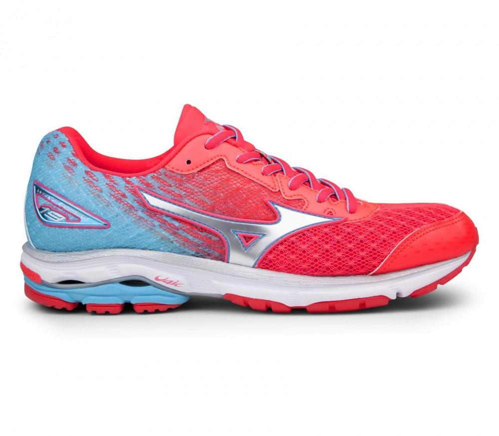 Mizuno - Wave Rider 19 women's running shoes (pink/tüturquoise)