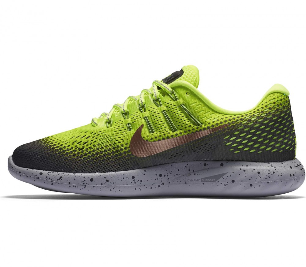 Nike - LunarGlide 8 Shield men's running shoes (grey/yellow)