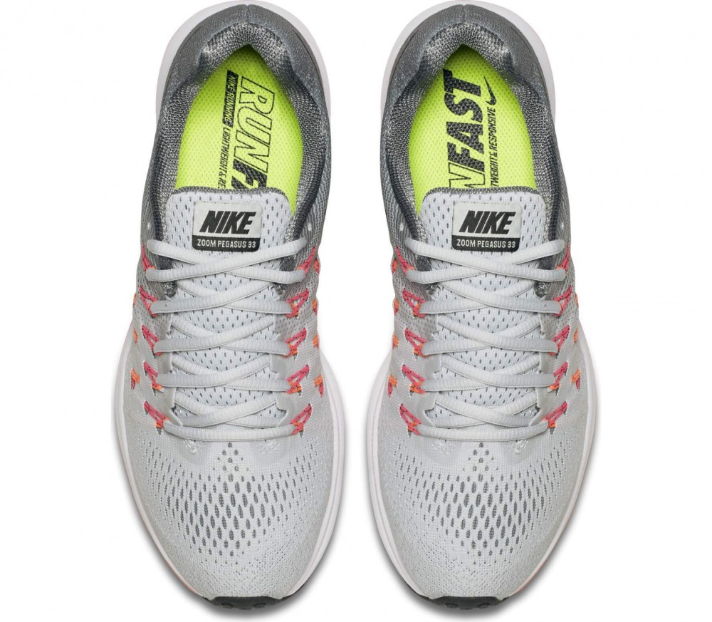 nike air zoom pegasus 33 women 39 s running shoes grey. Black Bedroom Furniture Sets. Home Design Ideas
