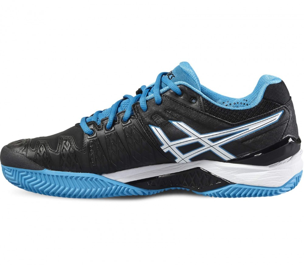 ASICS - Gel-Resolution 6 Clay men's tennis shoes (black/blue)