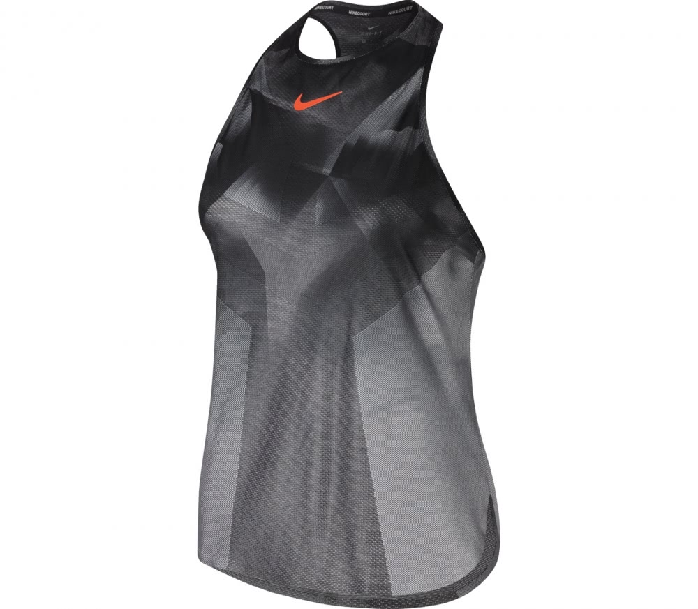 Nike - Court Dry Slam women's tennis tank top (grey/red)