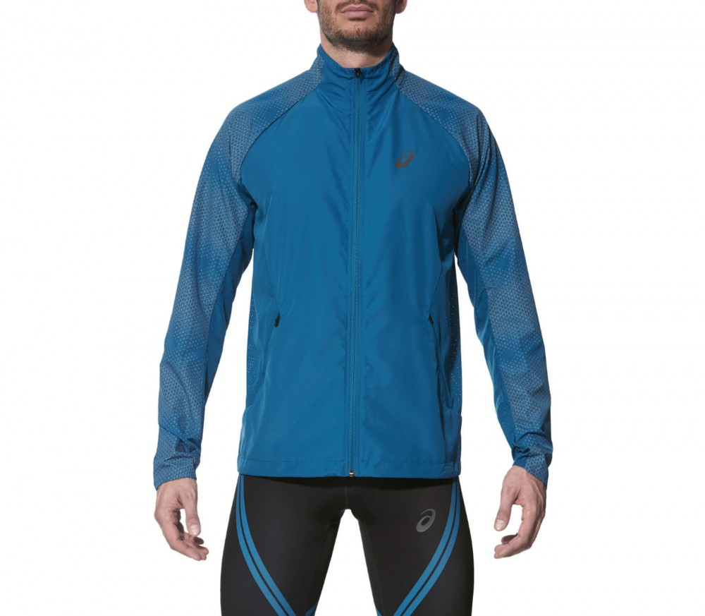 Asics - Lite-Show men's running jacket (blue)