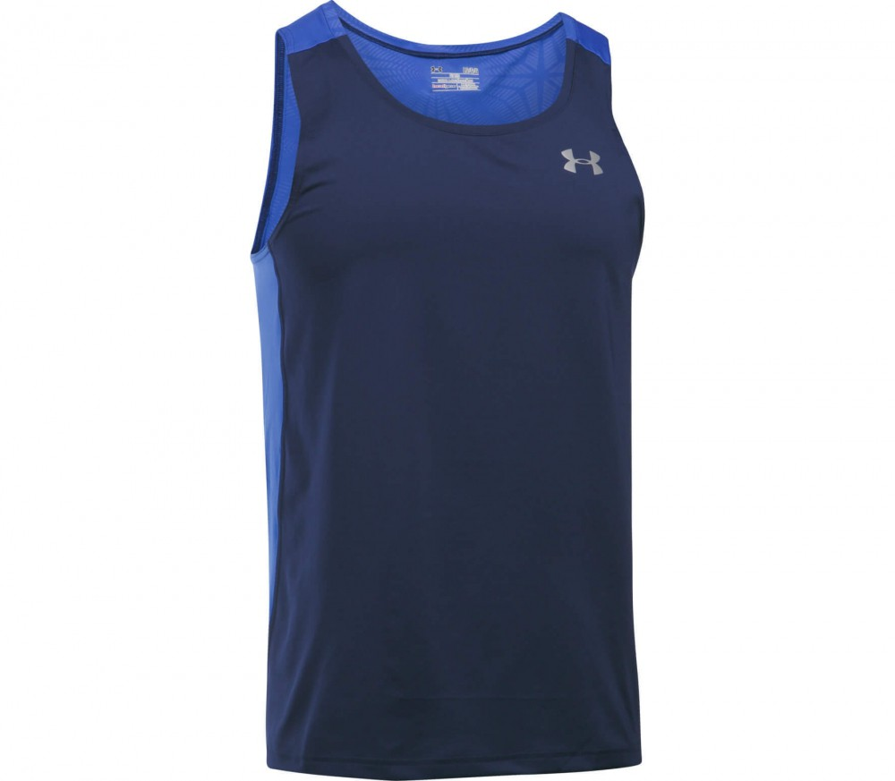 Under Armour - Coolswitch Run Singlet men's running tank top (black/blue)