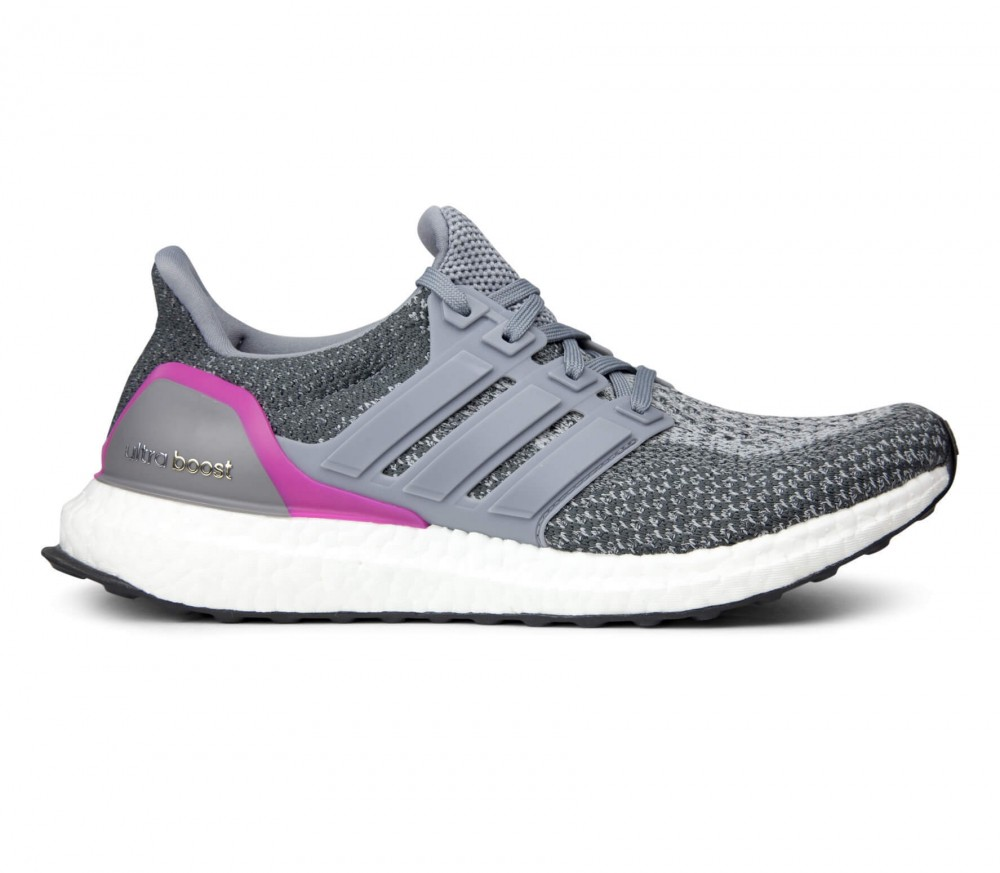 Adidas - Ultra Boost women's running shoes (grey/pink)