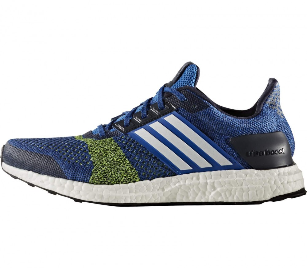 Adidas - Ultra Boost ST men\u0027s running shoes (blue/yellow)
