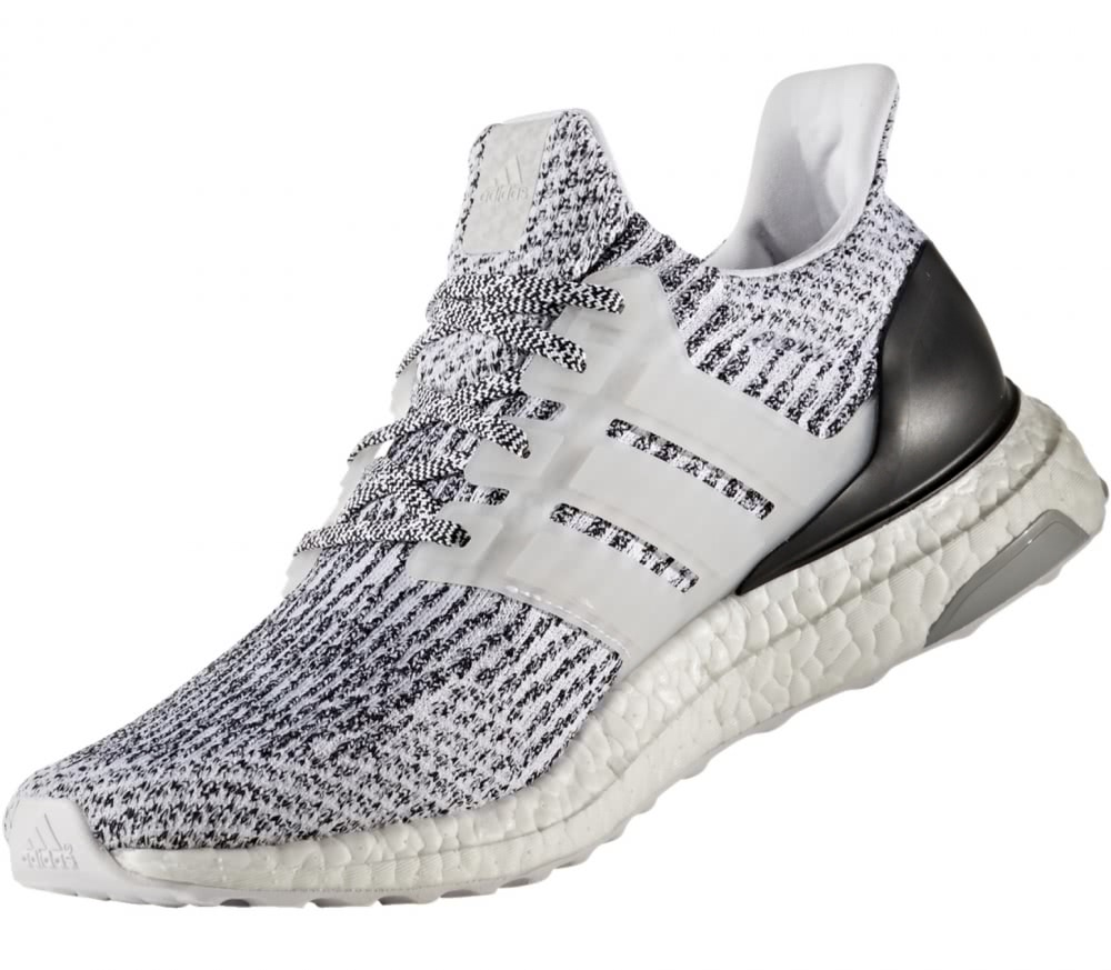 adidas ultra boost men 39 s running shoes white black. Black Bedroom Furniture Sets. Home Design Ideas