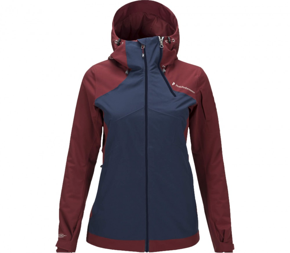 peak performance graph women 39 s ski jacket red dark blue buy it at the keller sports online. Black Bedroom Furniture Sets. Home Design Ideas