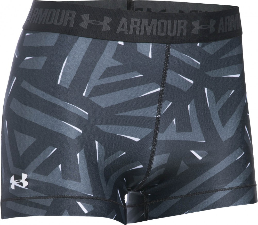 Under Armour - Heatgear Armour Printed women's training shorts (black/grey)
