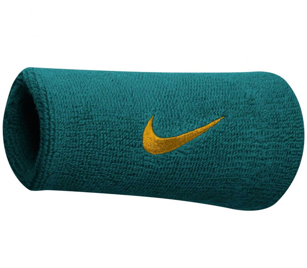 nike swoosh doublewide wristbands green buy it at