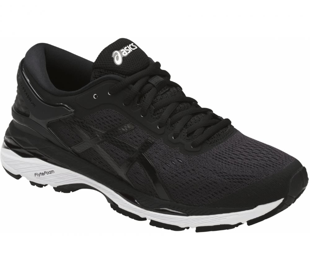 asics black and white running shoes