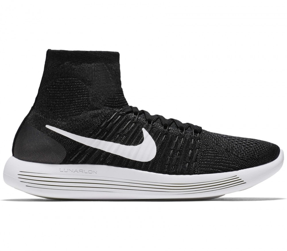 Nike - Lunar Epic Fly Knit men's running shoes (black/white)