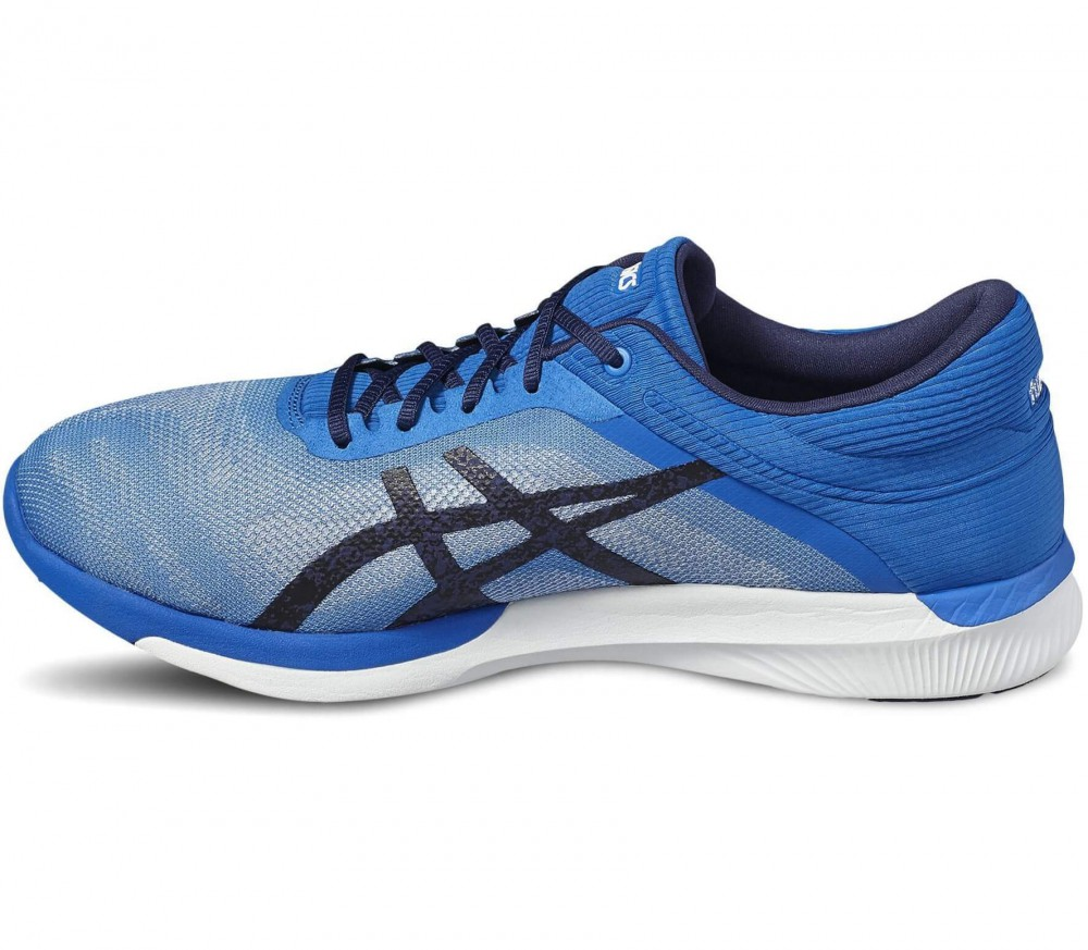 asics blue and white