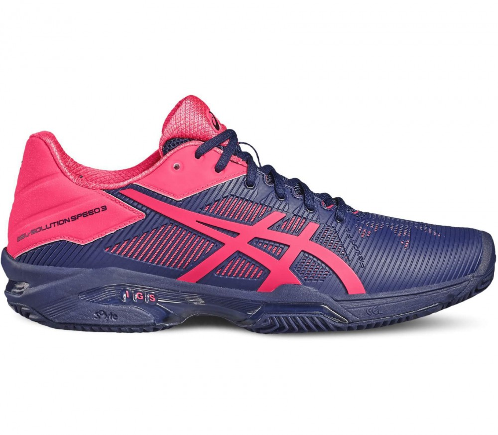 Asics - Gel-Solution Speed 3 Clay women's tennis shoes (blue/pink)