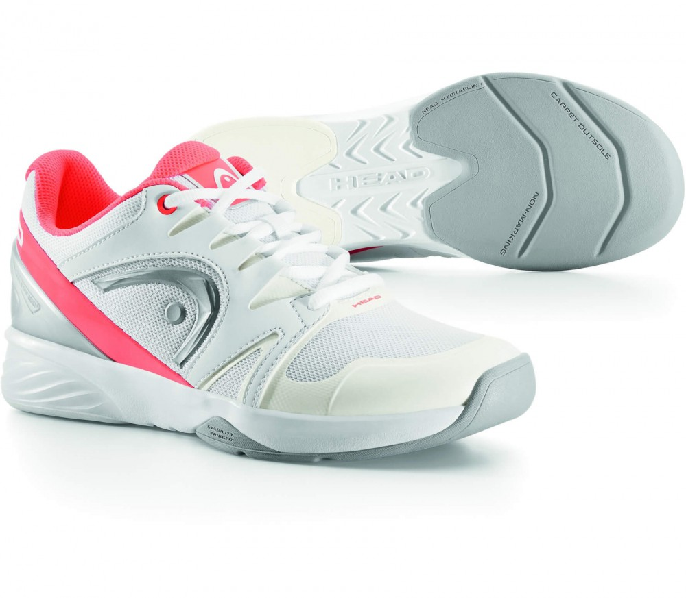 Head - Nitro Carpet women's tennis shoes (white/light red)