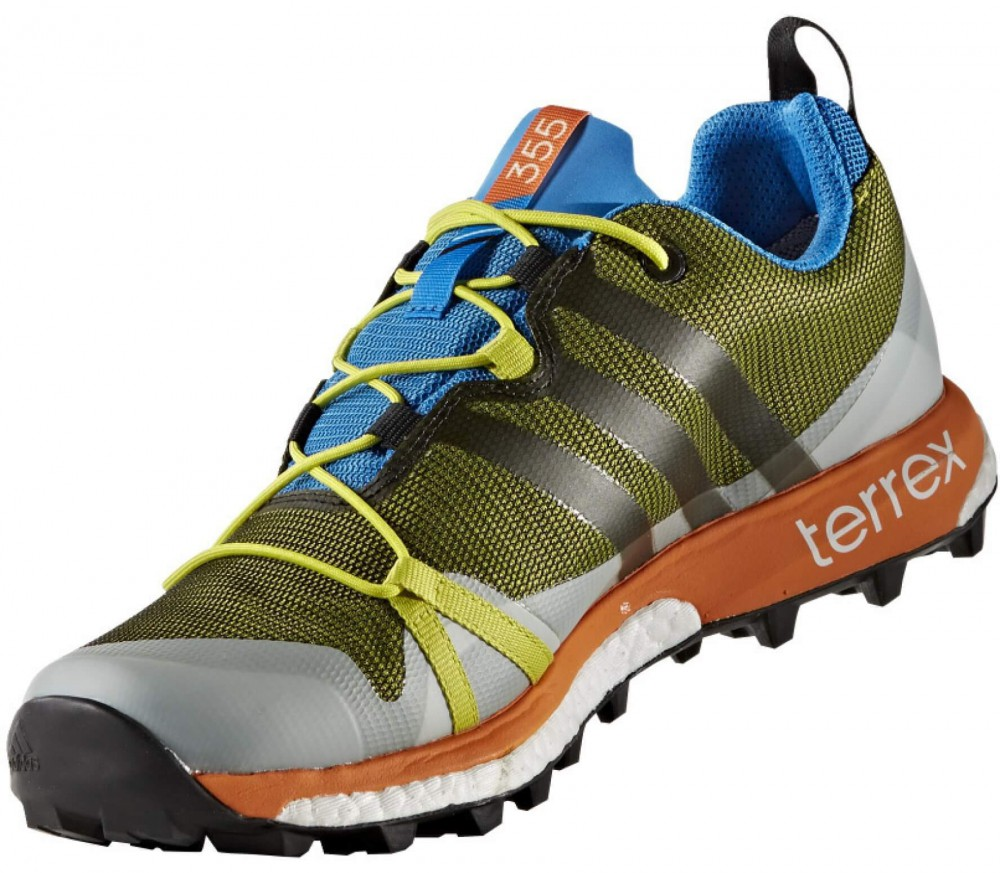 Adidas - Terrex Agravic GTX men's hiking shoes (green/orange)