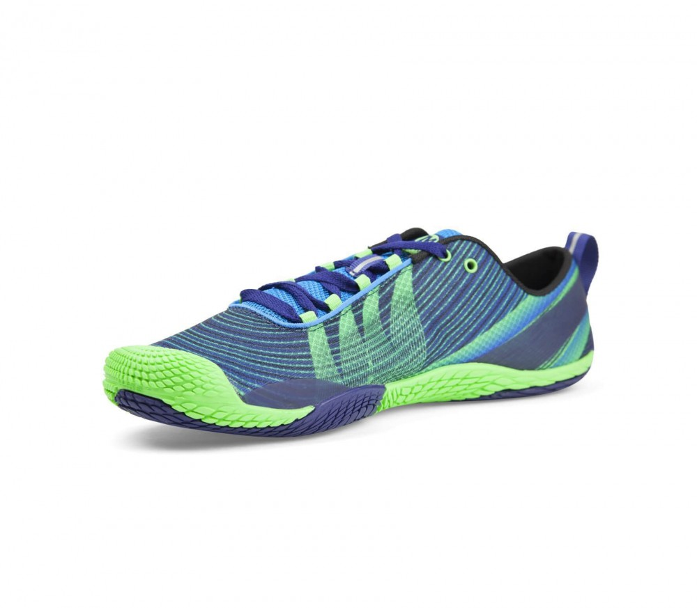 Merrell - Vapor Glove 2 men's trail running shoes (dark blue/green)