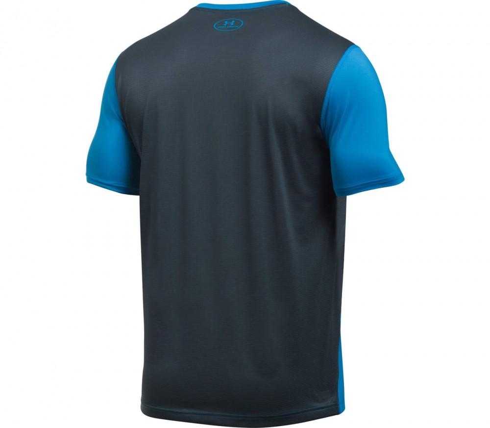 Under Armour - Raid Shortsleeve men's training top (blue/grey)