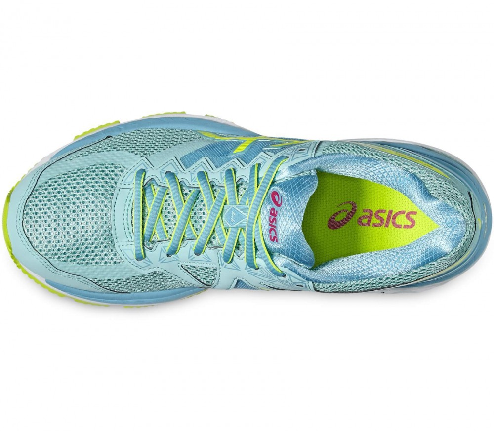 ASICS - GT-2000 4 women's running shoes (light blue/yellow)