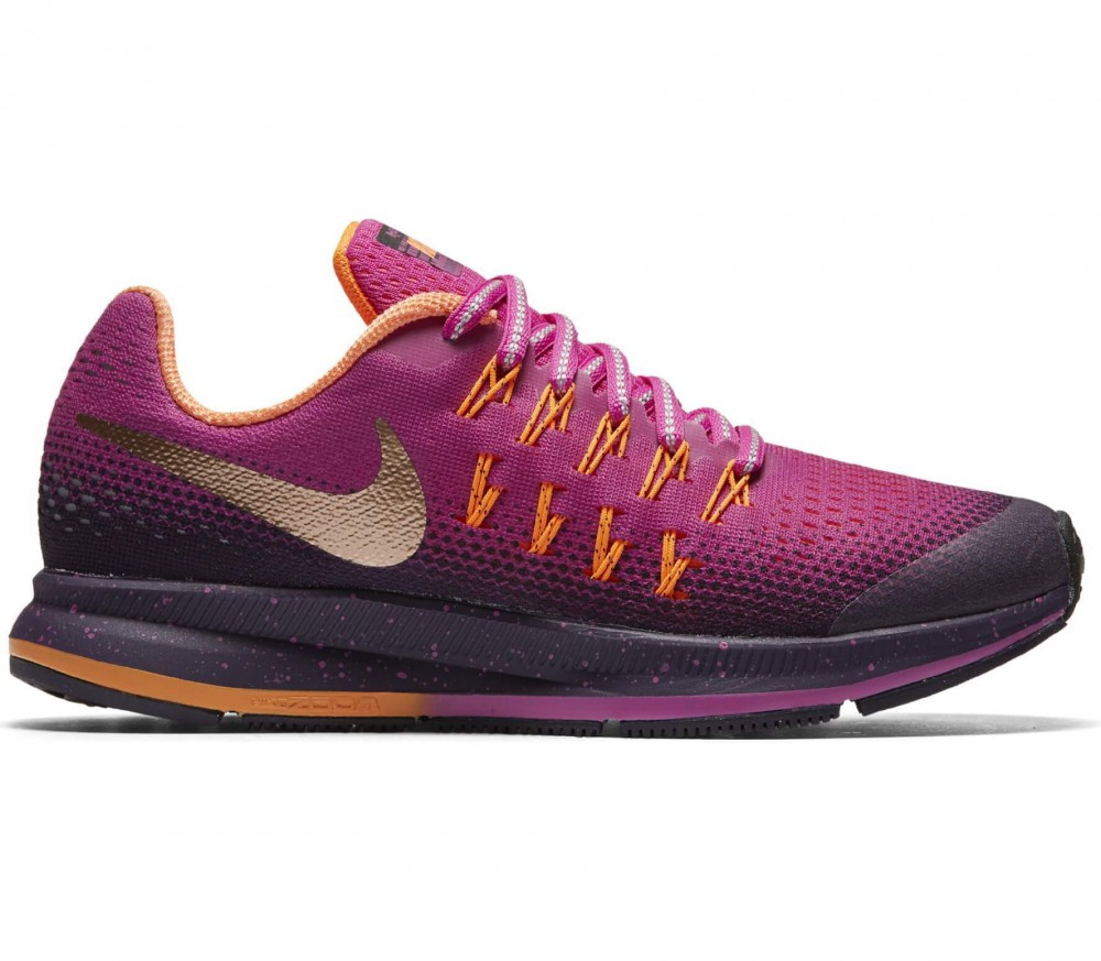 Nike - Zoom Pegasus 33 Shield (GS) Children running shoes (dunkellila/pink)