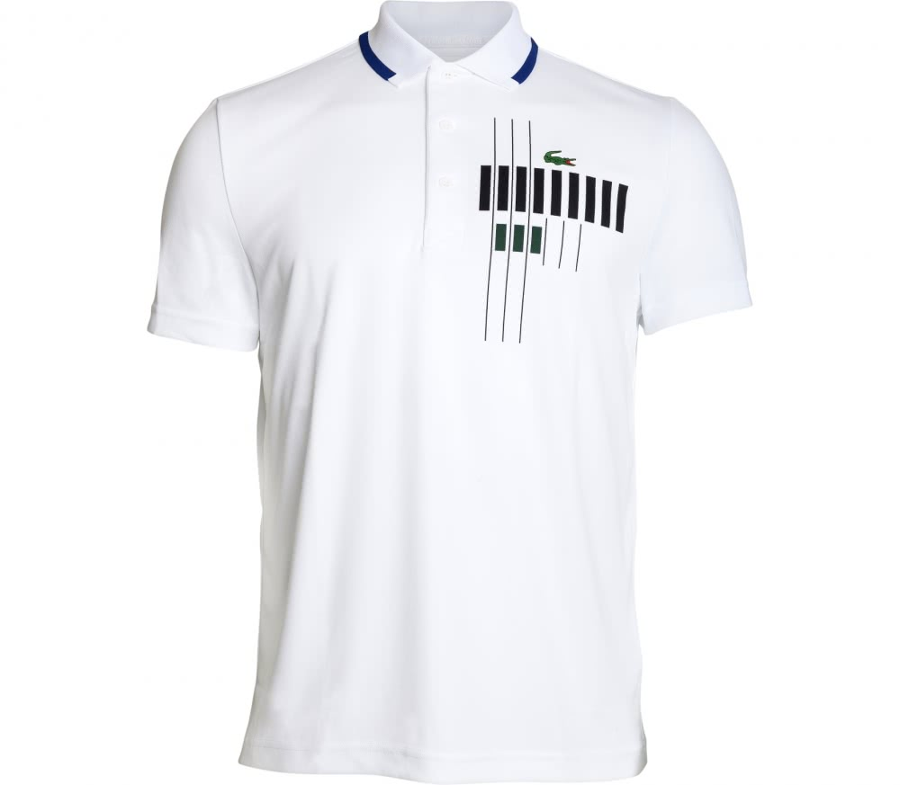 Lacoste - Novak Djokovic Ribbed Collar Shortsleeve men's tennis polo (white)