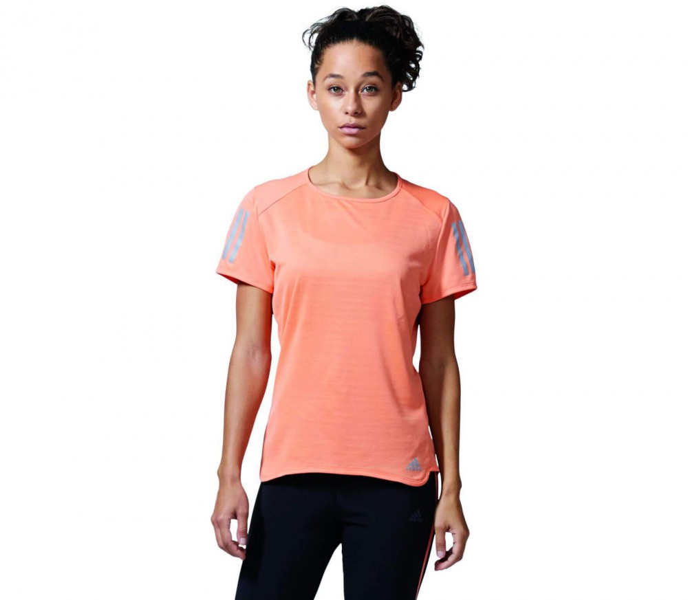 Adidas - Response Shortsleeve women's running top (orange)