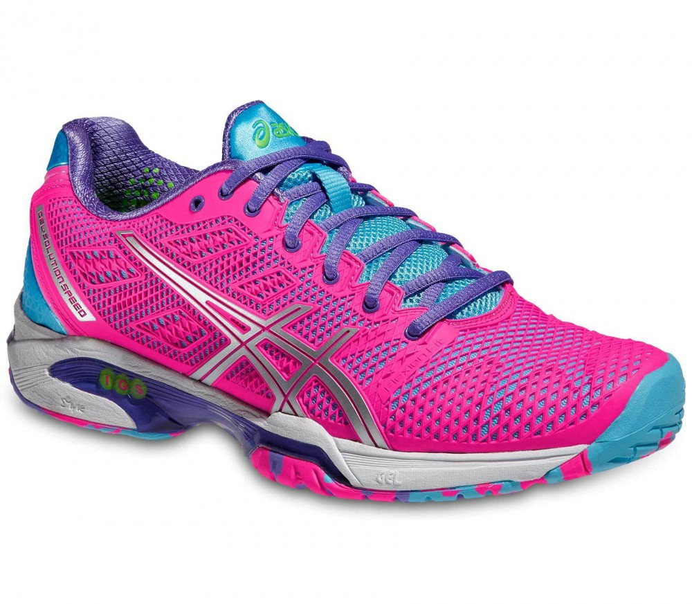 asics gel solution speed 2 women s tennis shoes pink silver buy it at the keller sports. Black Bedroom Furniture Sets. Home Design Ideas