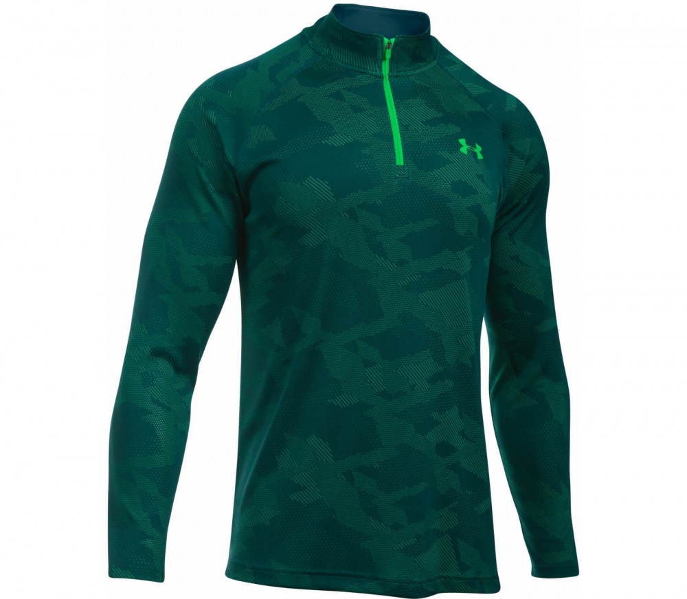 Under Armour - Tech Jacquard 1/4 Zip men's training top (green/grey)