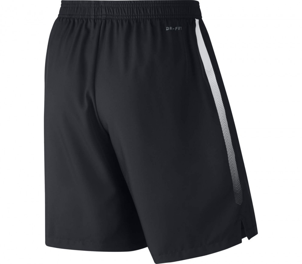 Nike - Court Dry men's tennis shorts (black/white)