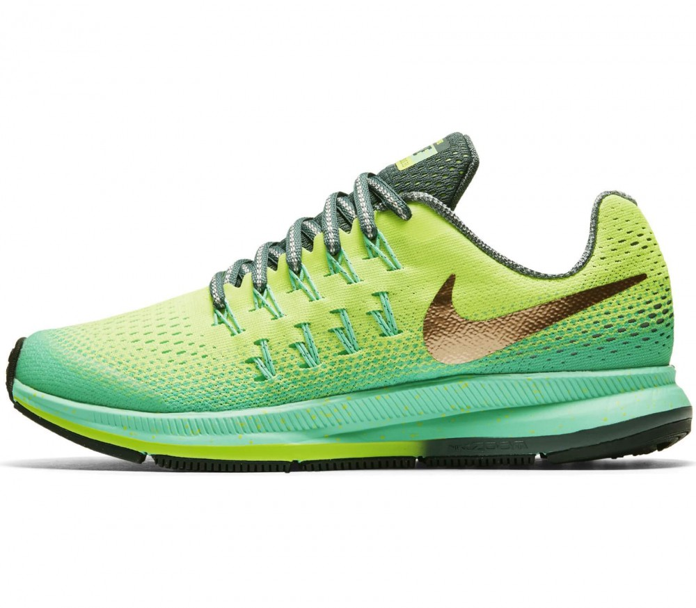 Nike - Zoom Pegasus 33 Shield (GS) Children running shoes (light yellow/yellow)
