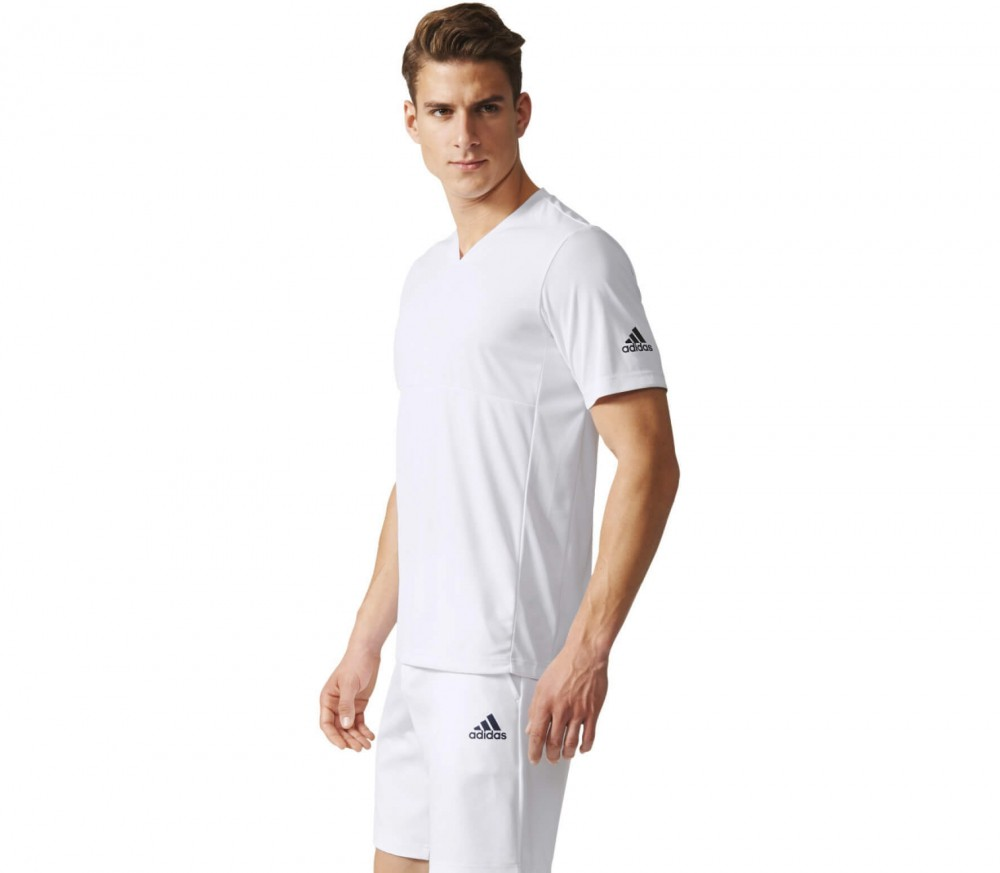 Adidas - Uncontrol Climachill men's tennis top (white/grey)