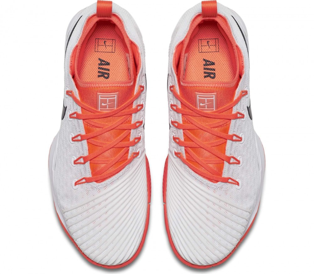 Nike - Air Zoom Ultra Fly Low women's tennis shoes (white/orange)