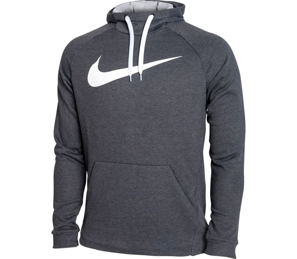 nike dry men 39 s training hoodie black grey buy it at. Black Bedroom Furniture Sets. Home Design Ideas