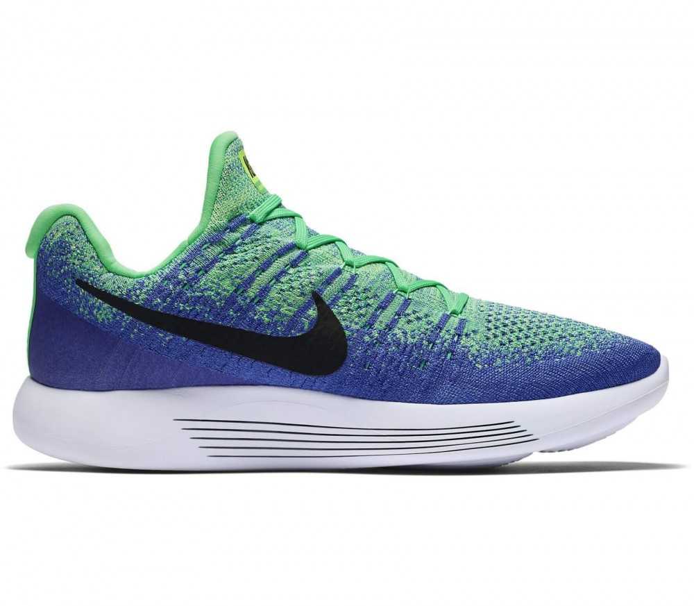 Nike - Lunar Epic Low Flyknit 2 men's running shoes (green/blue)