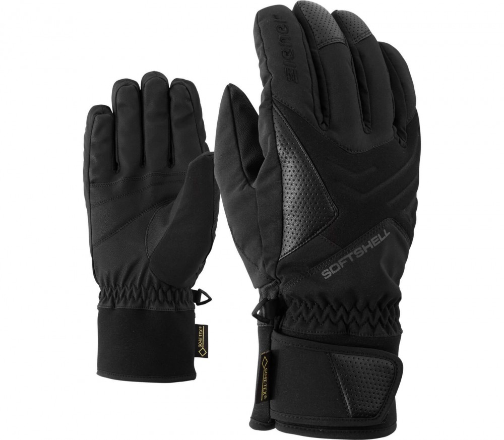 Ziener - Gomser GTX® men's skis gloves (black/grey)
