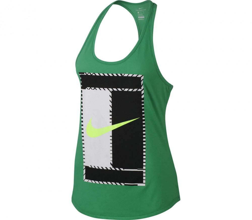 Nike - Court Dry women's tennis top (green)