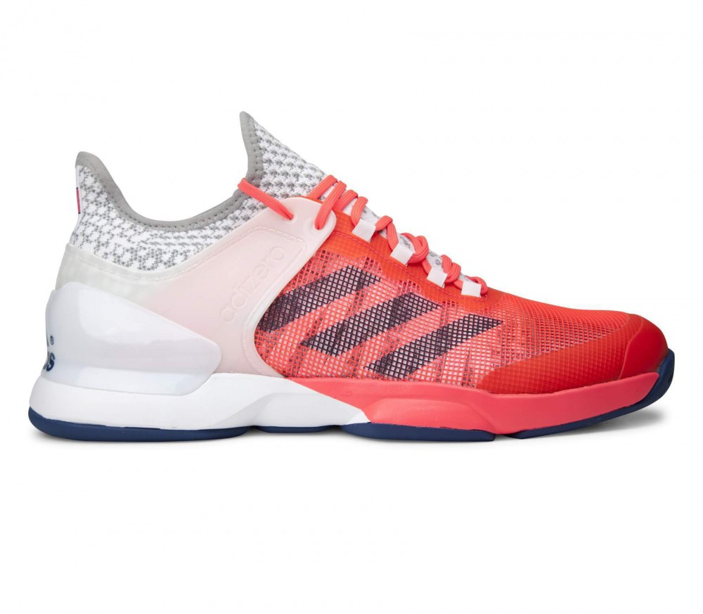 Adidas - Adizero Ubersonic 2 men's tennis shoes (white/light red)