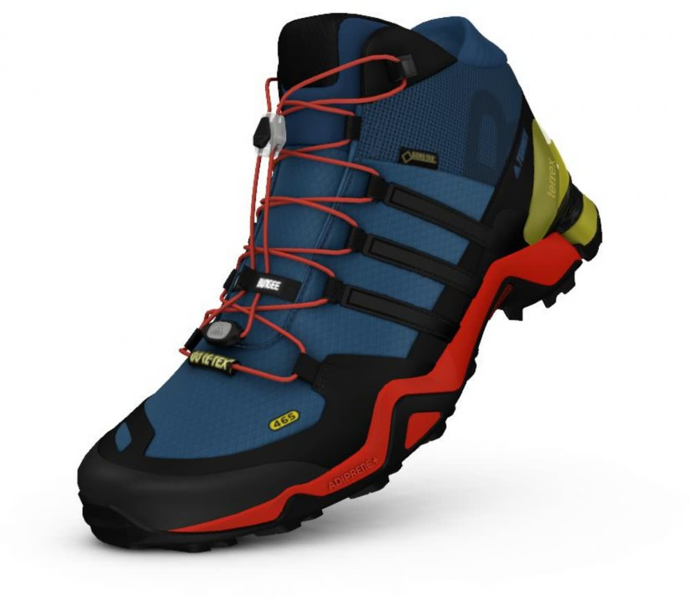 adidas terrex fast r mid gtx men 39 s hiking shoes blue. Black Bedroom Furniture Sets. Home Design Ideas