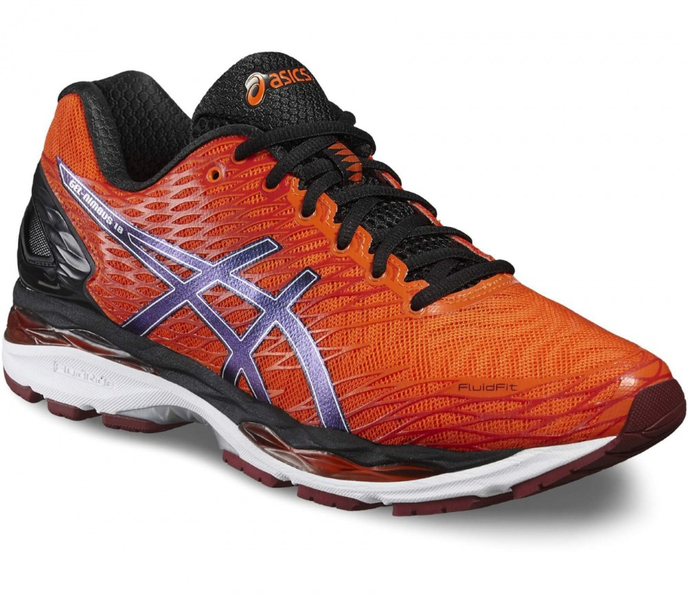 Asics - Gel-Nimbus 18 men's running shoes (orange/silver)