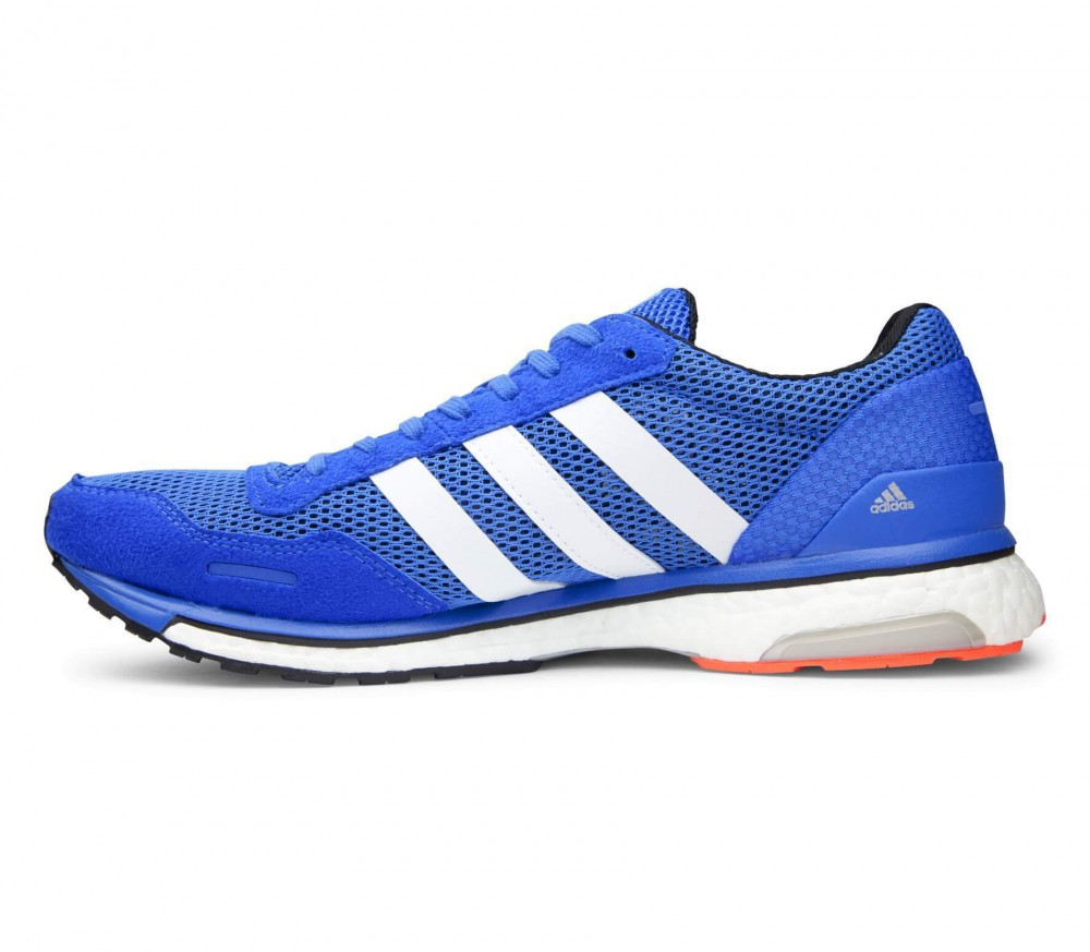 adidas adizero adios boost 3 men 39 s running shoes blue white buy it at the keller sports. Black Bedroom Furniture Sets. Home Design Ideas
