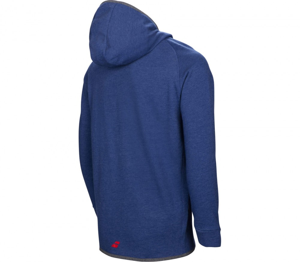 Babolat - Core men's tennis hoodie (blue-red) - buy it at the ...